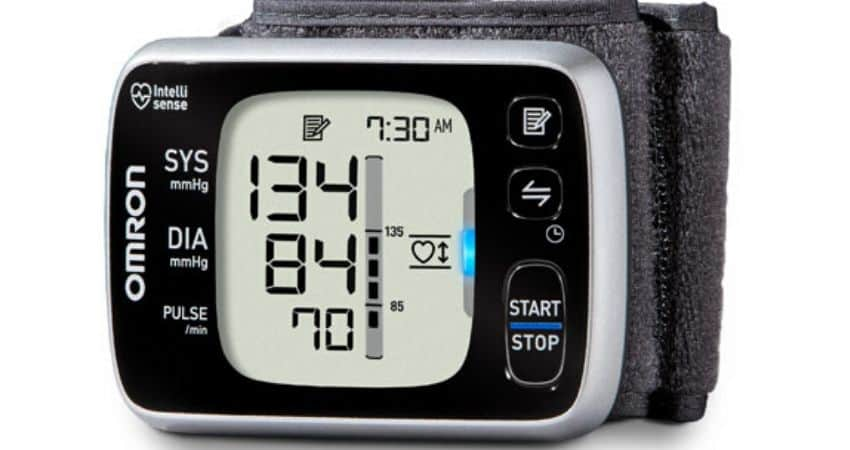 how to take your blood pressure with a wrist cuff