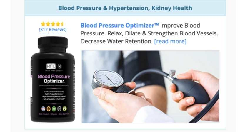blood pressure optimizer
