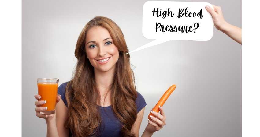is carrot juice good for high blood pressure
